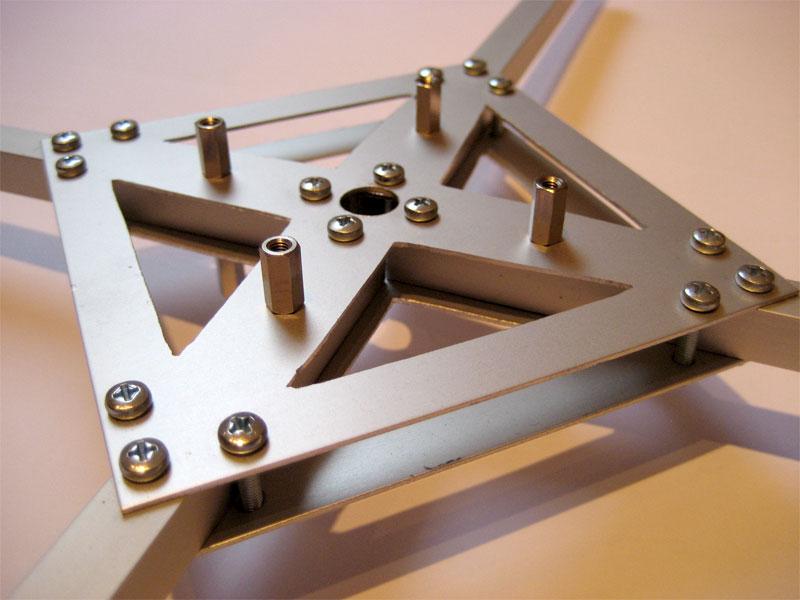 Der fertige Rahmen meines KF-Kopter   kleiner Flegel WebBlog