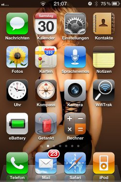 Screenshot mit dem iPhone
