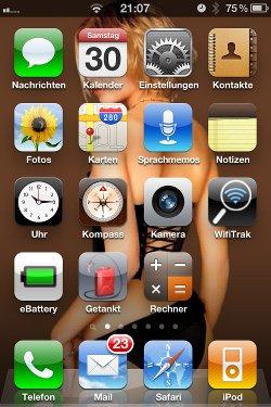 Screenshot mit dem iPhone