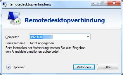 Remotedesktopverbindung